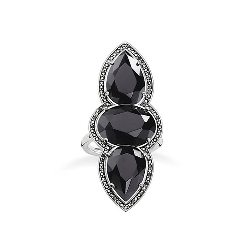 thomas sabo ring onyx mit zirkonia schwarz tr2045 641 11. Black Bedroom Furniture Sets. Home Design Ideas